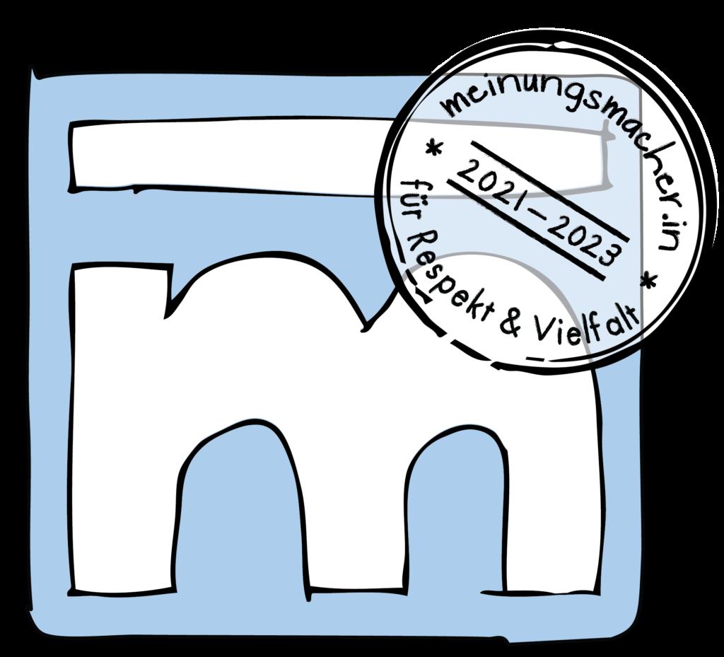 Logo Meinungsmacher.in 2021-2023